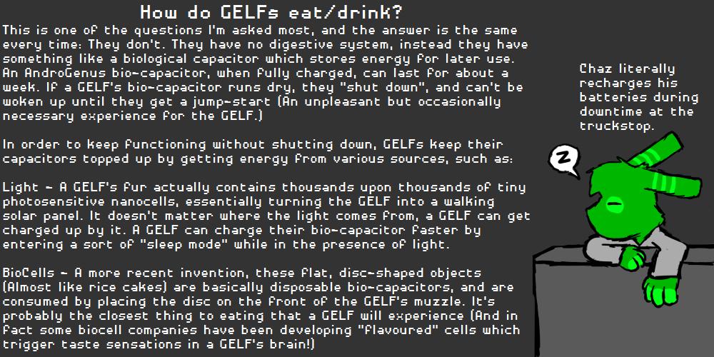 How do GELFs eat/drink?